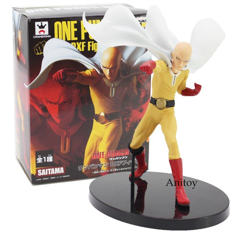 Anime One Punch Man DXF Saitama PVC Figure Collectible Model Toy 20cm