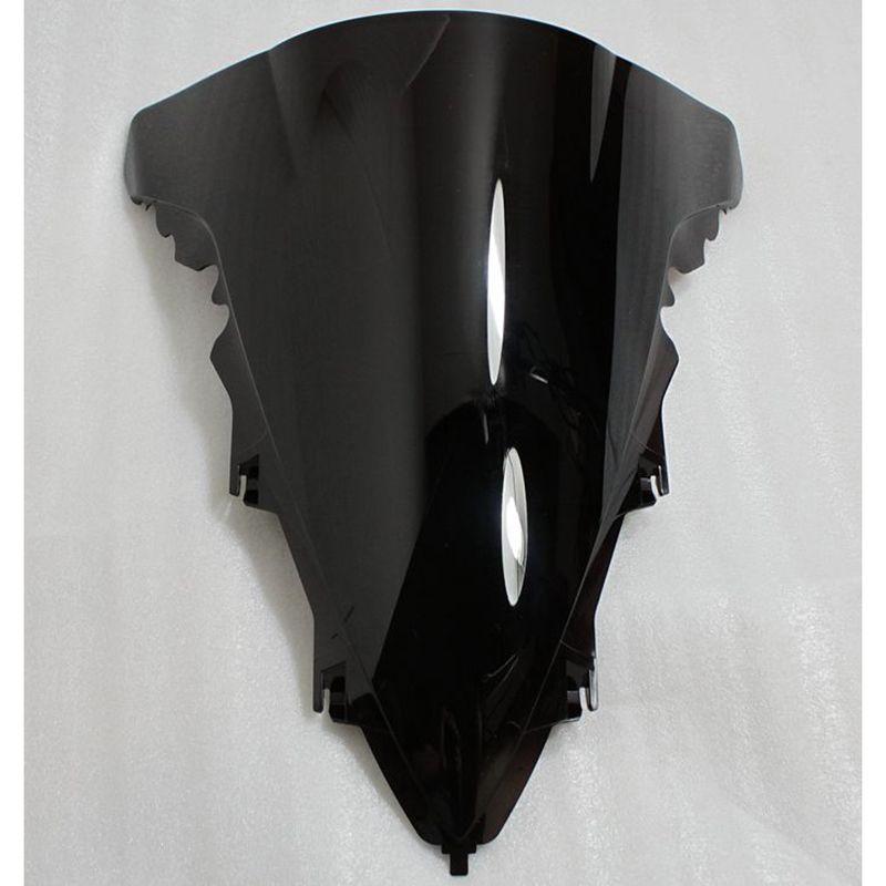 Black Motorcycle Wind Deflector Windshield Windscreen Universal For YAMAHA R1 2009 2010 2012 2013 2014 09-14