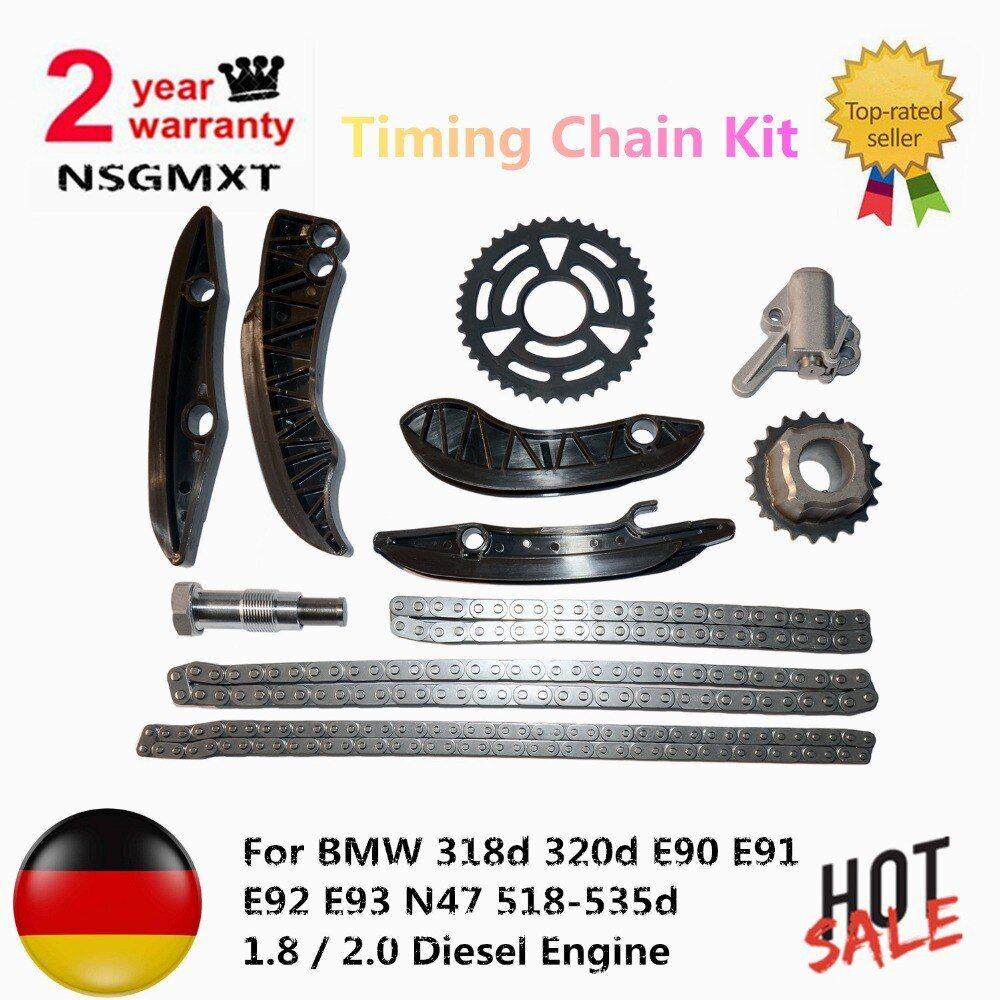 Timing Chain Kit For BMW 318d 320d E90 E91 E92 E93 N47 518-535d 1.8 / 2.0 Diesel Engine 13527797903 11318510014
