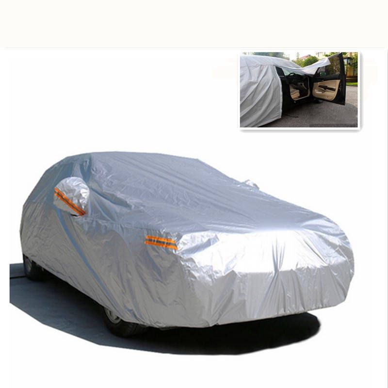 Universal Car Cover Snow Resistant Hatchback Sedan SUV Tent Waterproof UV Dust Scratch Protector Outdoor Car Cloth PEVA FullSize