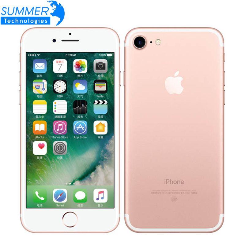 Original apple iphone 7 Quad Core 2 GB RAM 32/128 GB/256 GB IOS Touch ID LTE 12.0mp iPhone 7 Apple huella digital 12mp teléfono móvil