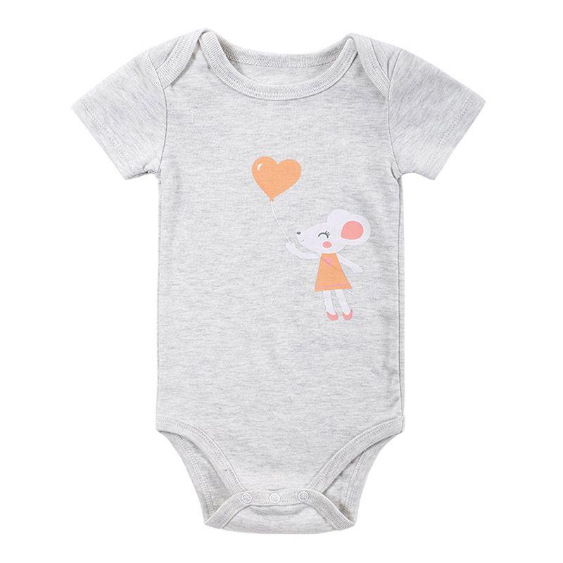 2017 милый ребенок Хлопковый жилет с рисунком комбинезон clthing новорожденных малышей Корректирующие боди для женщин летние детские Обувь для ...