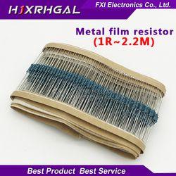 100pcs  1/4W 1R~2.2M 1% Metal film resistor series 100R 220R 1K 1.5K 2.2K  4.7K 10K 22K 47K 100K 100 220 1K5 2K2  4K7 ohm