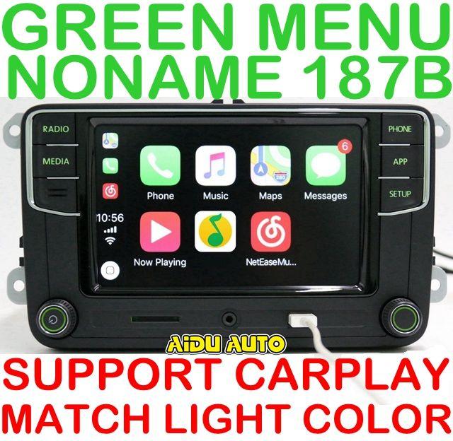 AIDUAUTO Carplay Noname RCD330 RCD330G Plus Radio Grün Hintergrundbeleuchtung Für Skoda Octavia fabia 6RD 035 187 B 6RD035187B