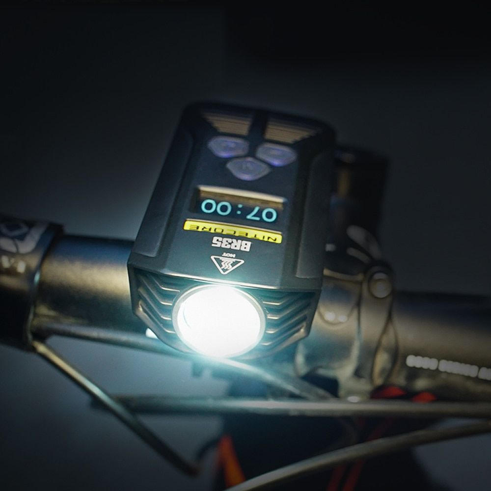 Topsale Nitecore BR35 1800 Lumens 2x CREE XM-L2 U2 Built-In Battery Pack Dual Distance Beam Rechargeable Bike Light for Riding