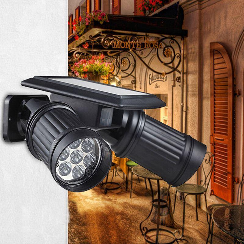 Lumiparty новый солнечный светодиодные прожекторы двойной головкой свет человеческого тела, индукционные Сенсор стены гараж, сад магазинов 14 с...