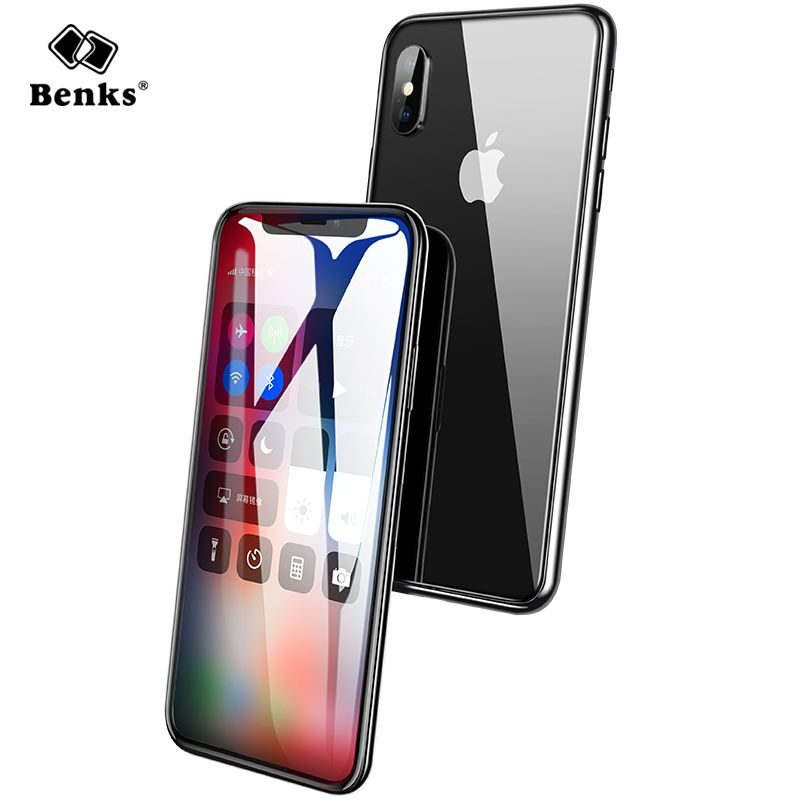 Ultra Thin Tempered Glass Full Cover For iPhone X Screen Protector Benks 3D Curved Edge 0.23mm For iPhoneX Glass HD Transparent