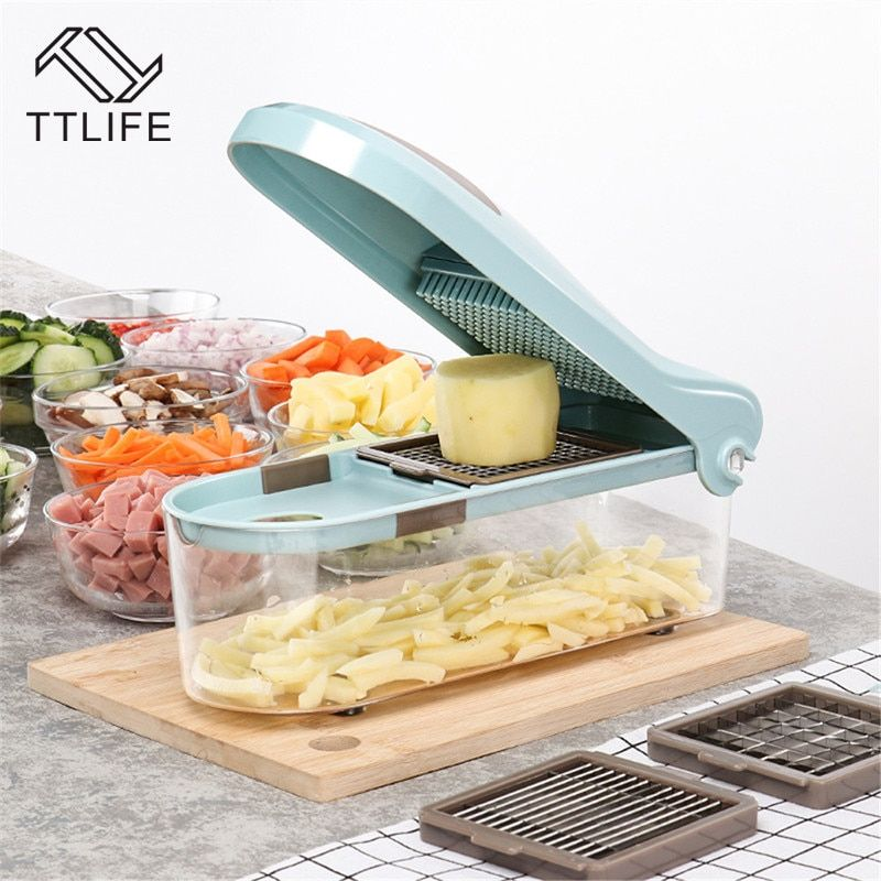 TTLIFE MultiFunction Manual vegetable Cutter Dicing Pressure Plate Healthy and Environmental Protection kitchen gadgets slicer