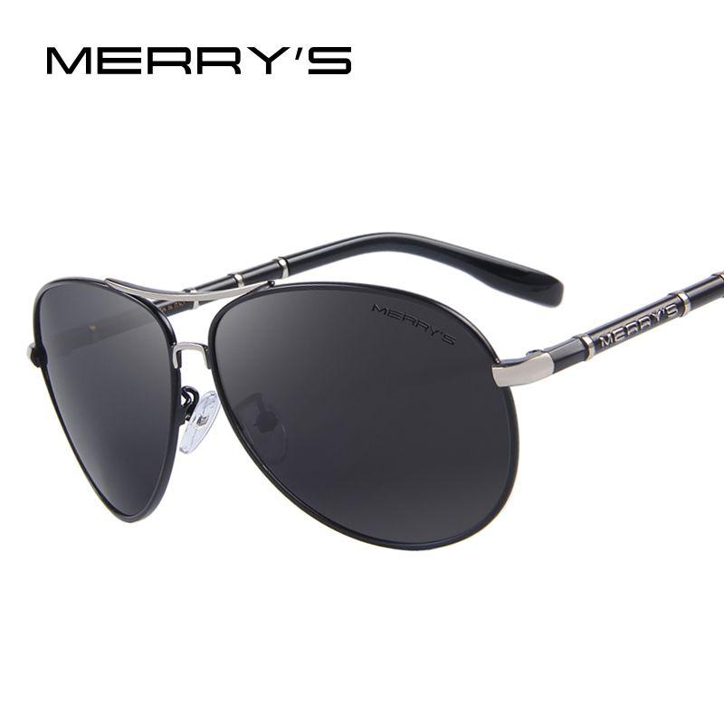 MERRY'S Design Männer Klassische Marke Luftfahrt Sonnenbrillen HD Polarisierte Aluminium Fahren Luxus sonnenbrille S'8766