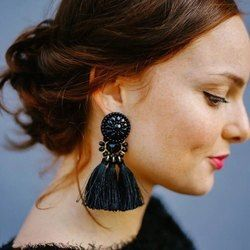 Hocole 2017 brincos mujeres marca Boho gota cuelgan Fringe pendiente vintage étnica declaración borla pendientes moda joyería Amuletos