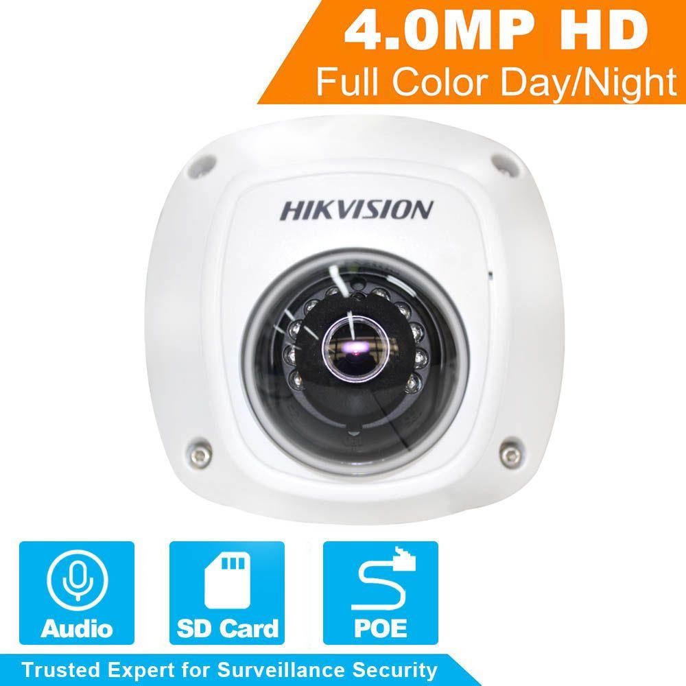 Auf Lager HIKVISION Cctv-kamera DS-2CD2542FWD-IS 4MP Mini Dome Kamera Eingebauter Sd-kartensteckplatz Innen/Außen PoE IP Kamera IP67