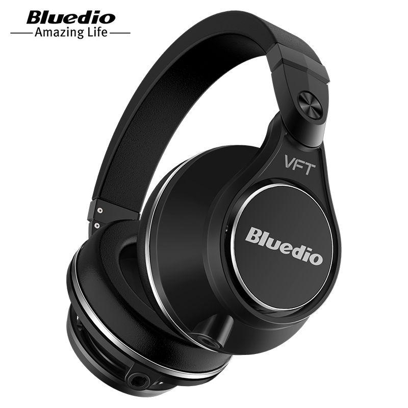 Original Bluedio UFO PLUS 3D bass bluetooth headset Patented 12 Drivers HiFi wireless headphones with microphone for music phone