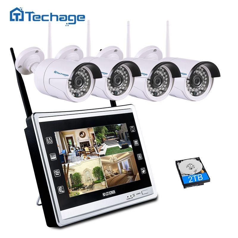 Techage 4ch 1080 P NVR комплект с 11