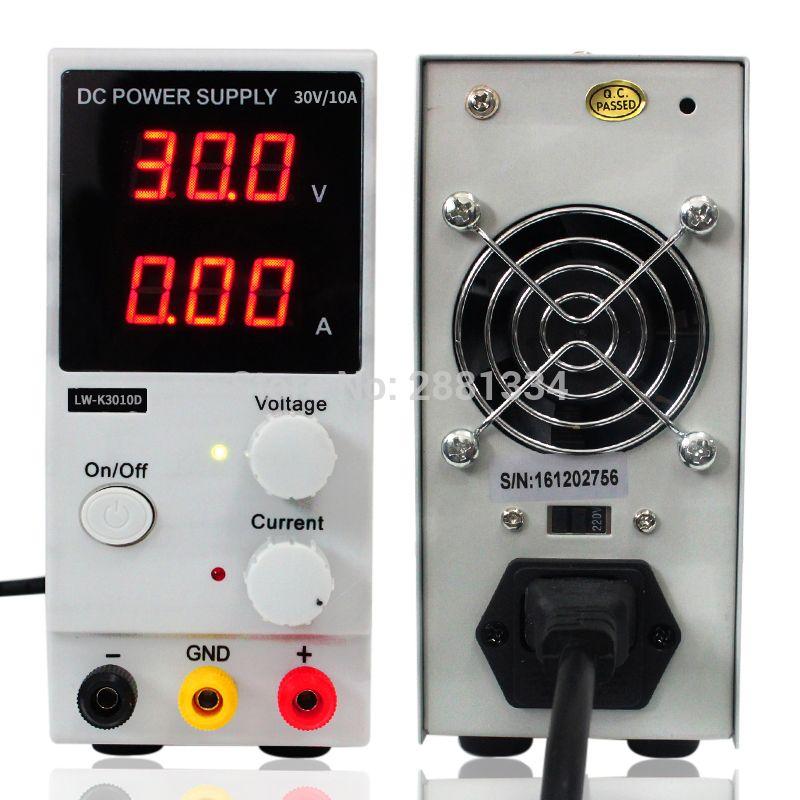 LED commutation numérique alimentation cc régulateurs de tension outil de réparation de laboratoire LW-K3010D réglable 110/220V Source d'alimentation