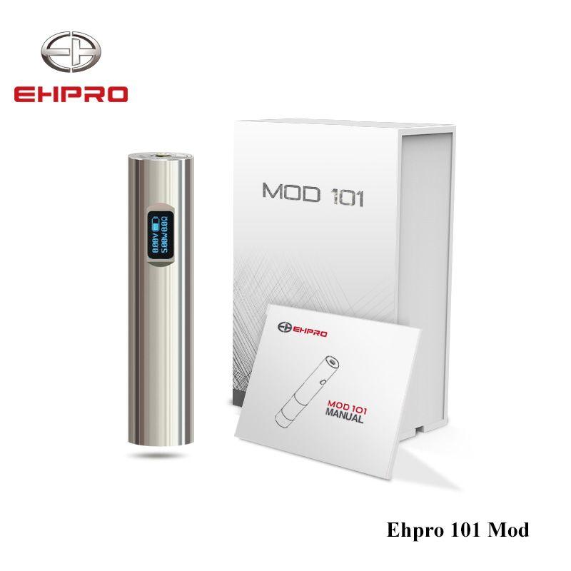 D'origine 50 W Ehpro 101 Mod 18650 & 18350 batterie Mech Mod LA NITC/TITC/LA CEST/Puissance/ par passer Mode E Cigarette Mécanique Mod Vaporisateur
