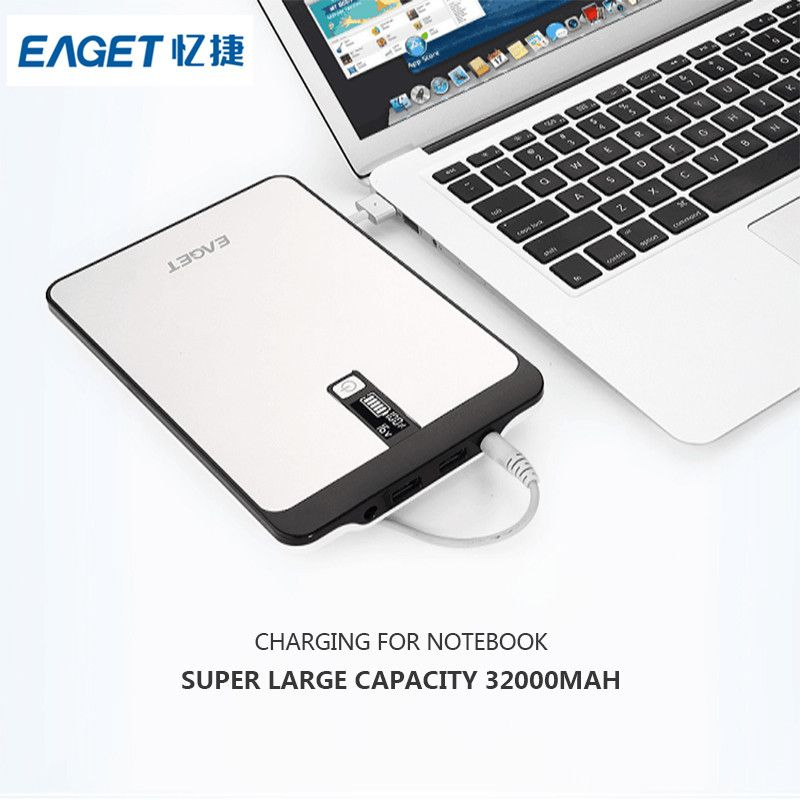 Eaget PT96 32000mAh External Battery Pack Portable Power Bank For Android and IOS Mobile Phones For Laptop Tablet