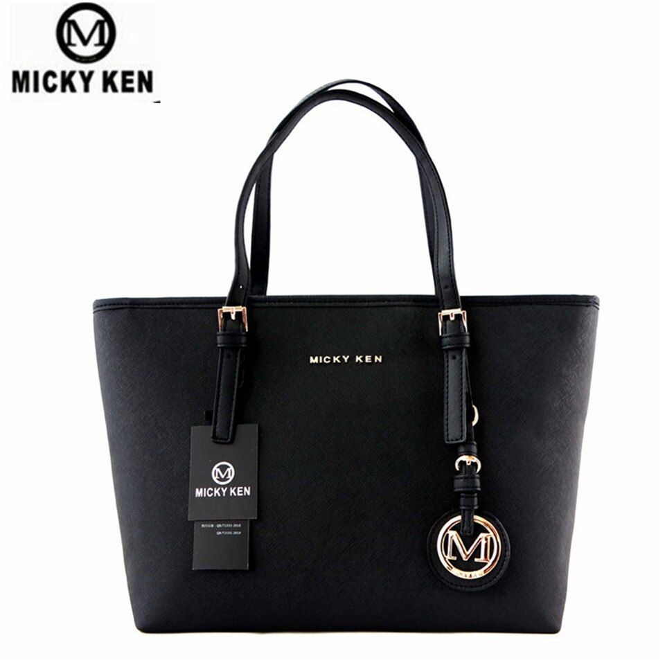 MICKY KEN Brand new 2017 women handbags big pu leather high quality letter female bag designer bolsos <font><b>mujer</b></font> sac a main totes
