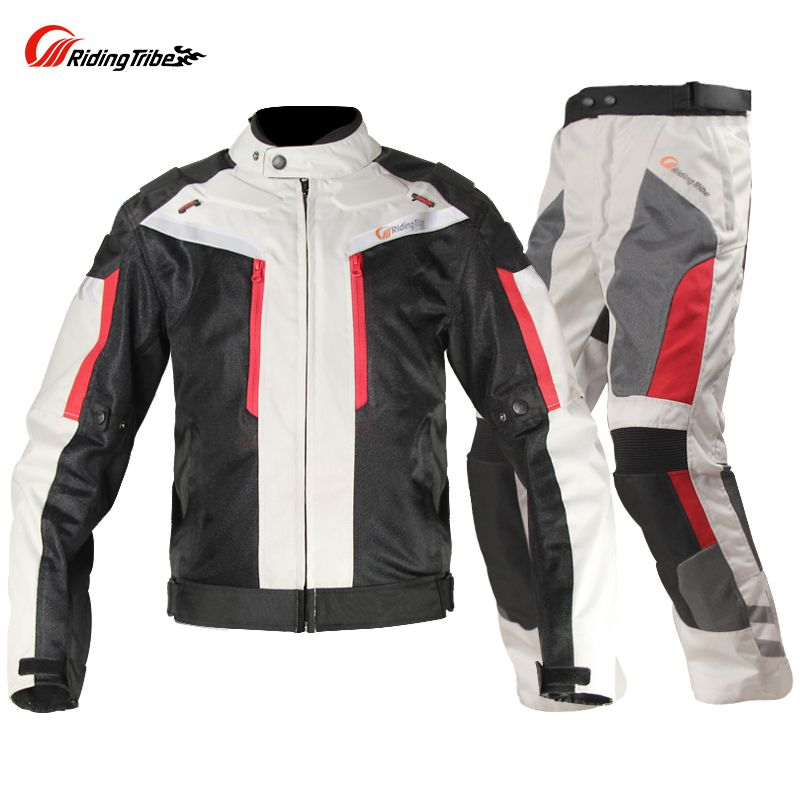 Riding Tribe Motorcycle jersey Jacket and pants Waterproof Breathable Dirt Bike Reflective Riding suit chaqueta moto verano