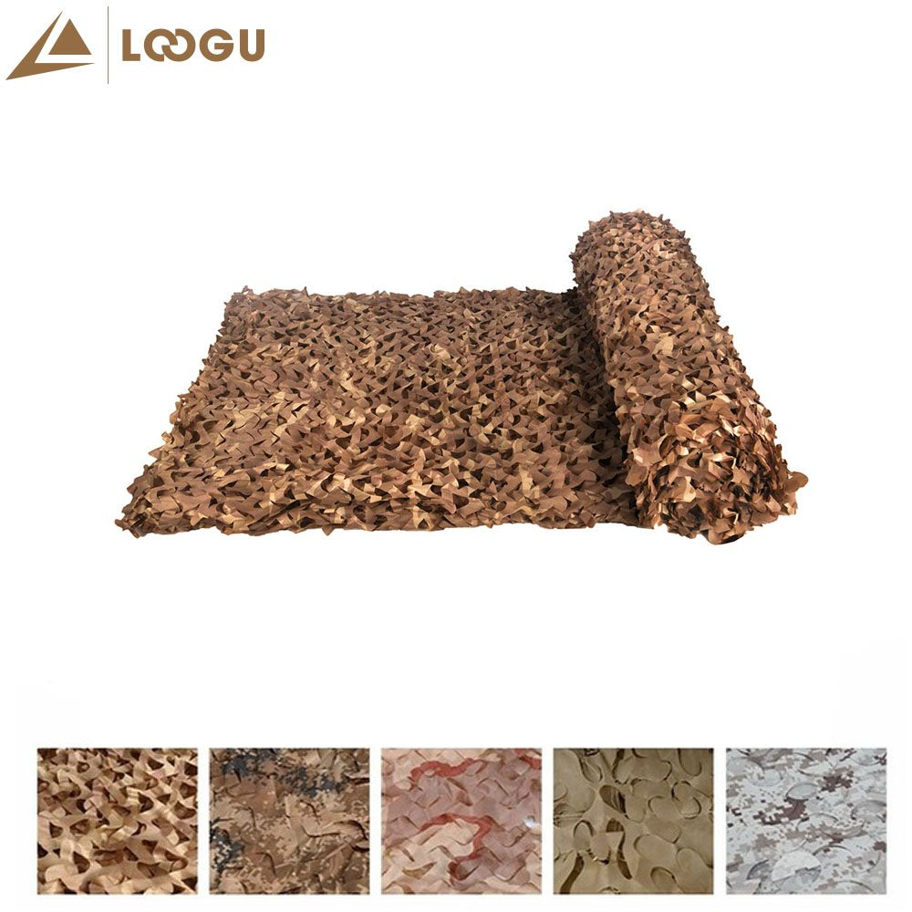 LOOGU E 1.5mx20m Car Covering Tent Woodland Military Camouflage Hunting Netting Without Edge Binding And Mesh Net Sun Shelter