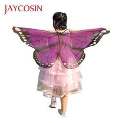 JAYCOSIN Newly Design Butterfly Wings Pashmina Shawl Kids Boys Girls Costume Accessory 0509