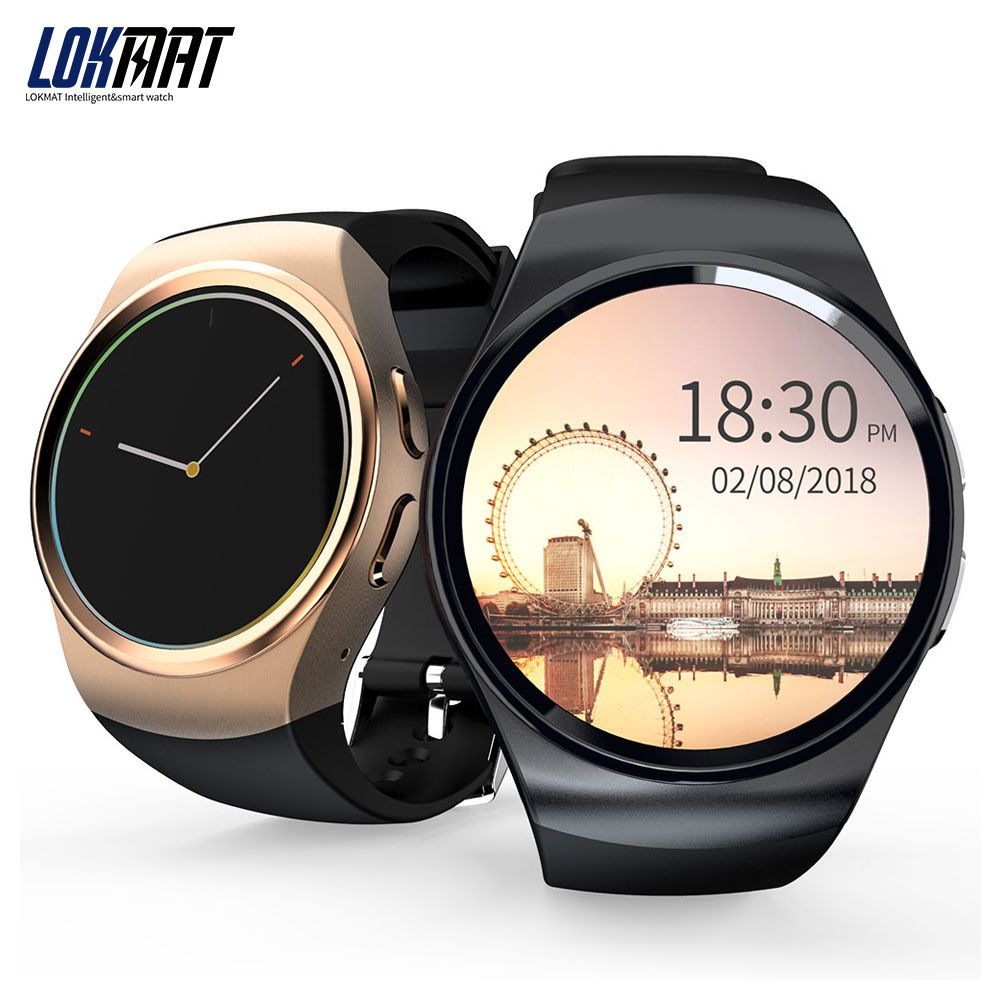 LOKMAT Smartwatch Heart Rate Monitor Sport Pedometer Support SIM Card Smart watch men For ios and android