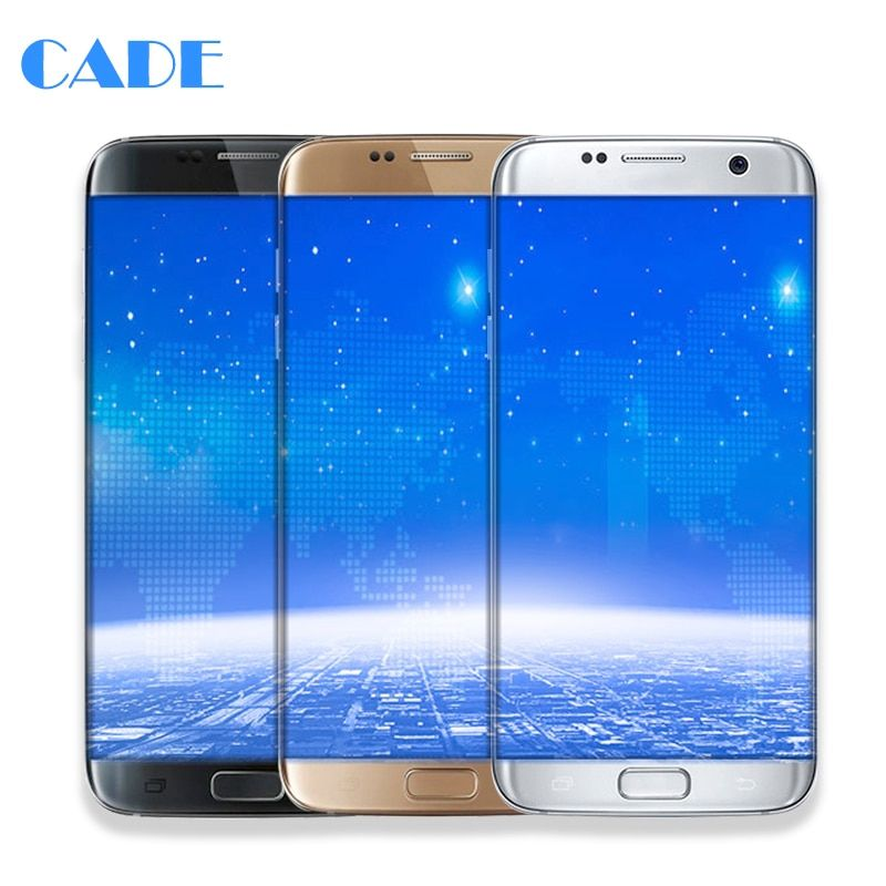 LCD Display For Samsung Galaxy S7 Edge G935 G935F G935FD SM-G935 Touch Scree Phone Lcds Digitizer Assembly Parts With Frame