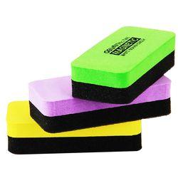 1 piezas Deli 110mm X 50mm X 30mm alta calidad pizarra magnética borradores Drywipe limpiador oficina de la escuela pizarra