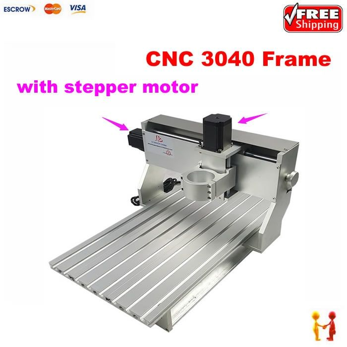 CNC Milling Machine aluminum spare parts 3040 CNC frame router With stepper motor and limit switch