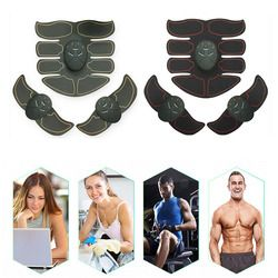 EMS Abdominal Muscle Trainer Smart ABS Stimulator Sculpting Massager Pad Fitness Gym Arm Stickers Body Loss Slimming Massager