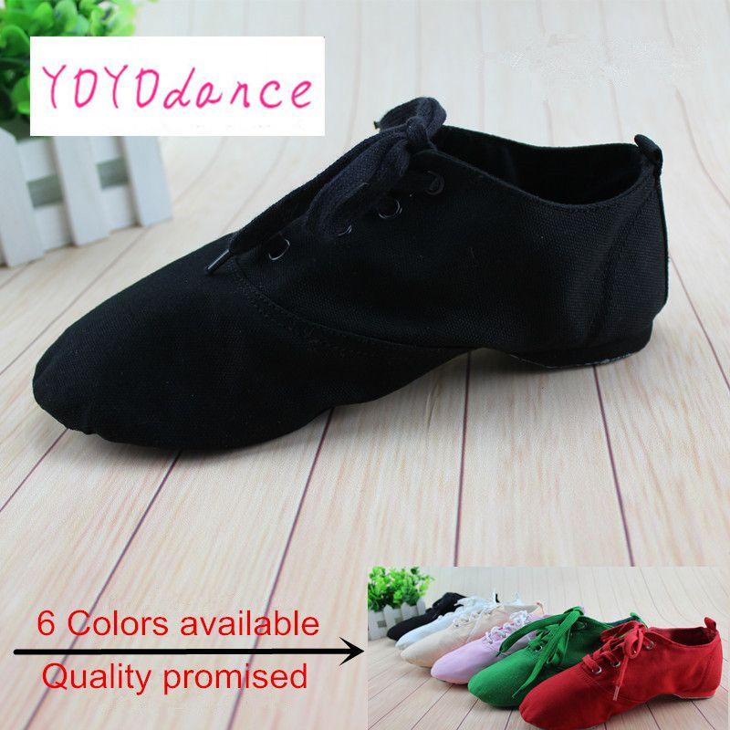 New 2018  Women Men  jazz dance shoes Flats Designer Soft Lace Up Canvas Jazz Shoes Knot Dancing Shoes women 4012