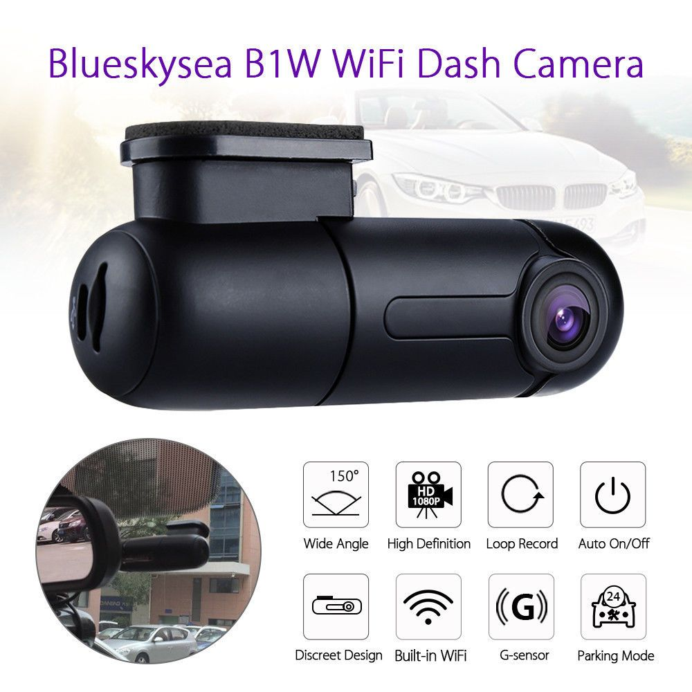 Blueskysea B1W 1080P IMX323 <font><b>Novatek</b></font> GM8135S Mini WiFi Car Dash cam DVR Camera 360degree Rotate G-Sensor Super capacitor