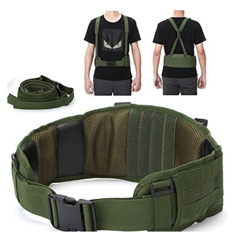 Ceinture militaire tactique Molle armée spéciale 1000D ceinture militaire en Nylon ceinture de combat pratique EAS en forme de H réglable souple rembourré