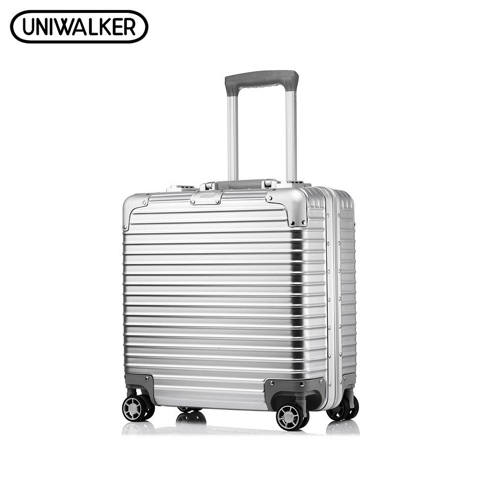 UNIWALKER 18' Inchs Unisex ABS+PC Rolling Luggage Scratch Resistant Travel Trolley Hardside Luggage Suitcase mala de viagem