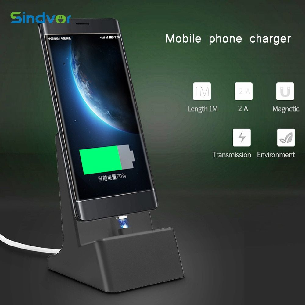 Sindvor 2A Magnetic Phone Charger Dock With Android Magnetic Cable Micro USB Sync Adapter For Android Phone Universal Samsung