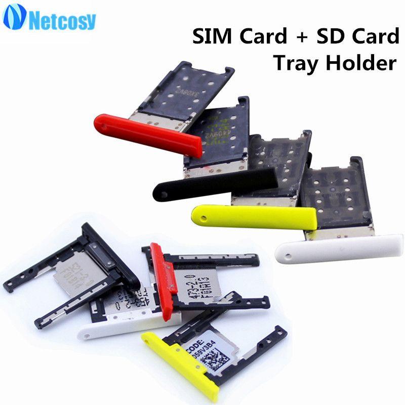 Netcosy Carte SIM + Carte SD Support de Bac à Sous pour Nokia Lumia 1520 Pièces De Rechange De Réparation de Haute Qualité Téléphones Accessoires
