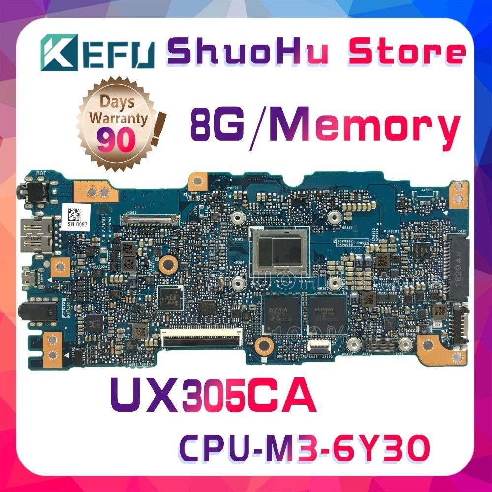 KEFU Für ASUS Zenbook UX305CA UX305C UX305 M3-6Y30 CPU 8 gb Speicher laptop motherboard getestet 100% arbeit original mainboard