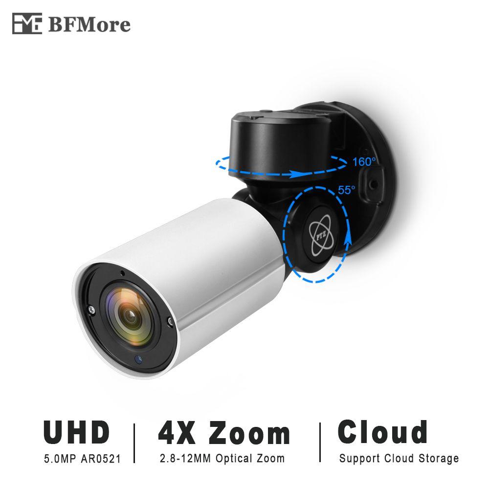 BFMore 5.0MP 4.0MP Mini PTZ IP Camera H.265 Cloud Storage Outdoor 4X Optical Zoom IR 50M P2P CCTV Security Onvif Waterproof CCTV