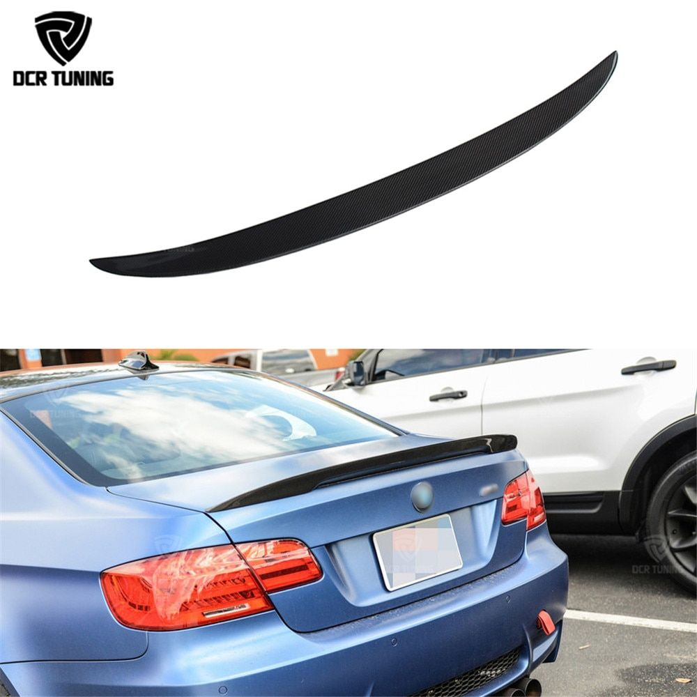 Carbon wings For BMW E92 Spoiler 3 Series 2 Door E92 M3 E92 Coupe Carbon Spoiler Performance three Style car styling 2005-2012