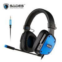 SADES Dpower juego de auriculares de 3,5mm auriculares ligero Multi-plataforma para PC/Xbox One/PS4