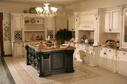 Европейский стиль кухни шкафы из массива дерева