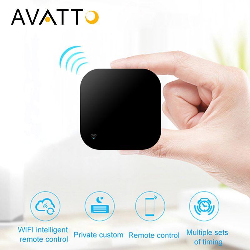 AVATTO S06 Mini domotique intelligente 2.4GHz WIFI IR à distance avec Alexa, Google Home Voice télécommande universelle intelligente