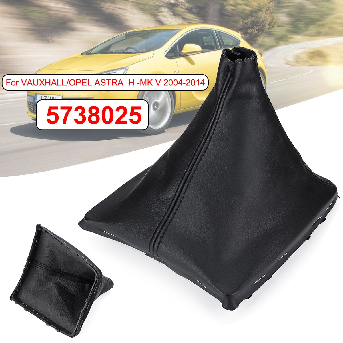 5738025 PU Leather Car Gear Shift Knob Gaiter Boot Cover Gear Stick Cover For Vauxhall Opel Astra H-MK V