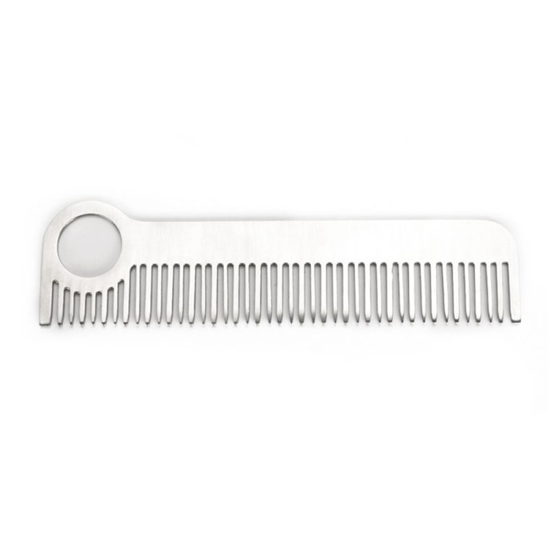 1pcs Protable Tool EDC Stainless Steel Polished Medium Tooth Comb Tactical Pocket Outdoor Tool