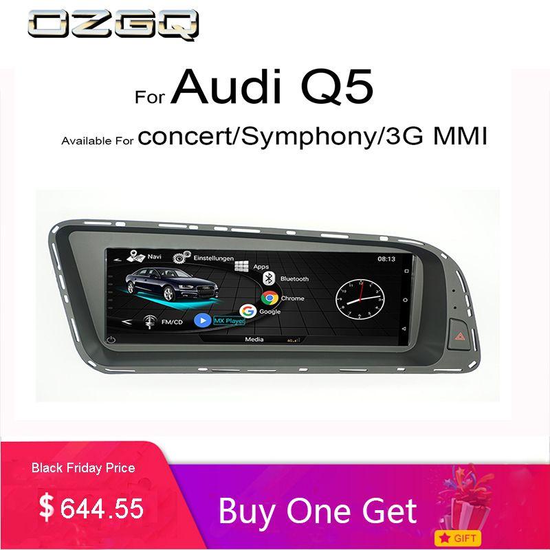OZGQ Android System 3G MMI Car Multimedia Player Autoradio For Audi Q5 2010-2016 With MMI Control Bluetooth WIFi Map Function