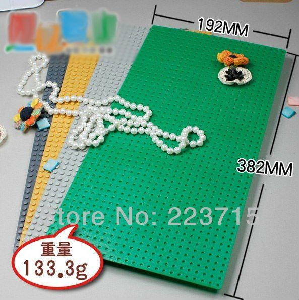 Livraison gratuite! 3 pièces * plaque 24x48*38x19 cm bricolage éclairer blocs briques, Compatible avec Lego assemble des particules