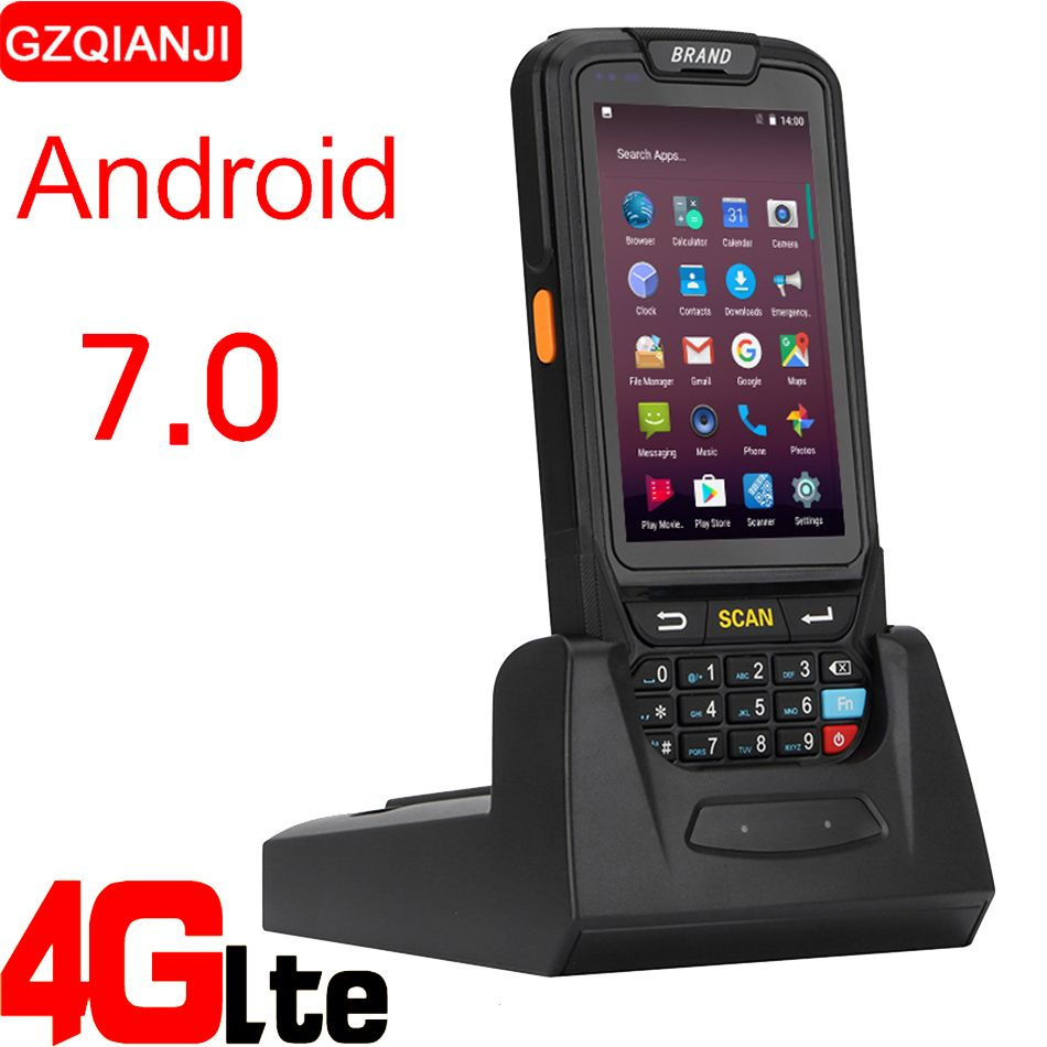 PDA Barcode scanner 1D 2D Bluetooth Android Handheld Terminal Rugged PDA Wireless Mobile 1D Bar code Scanner Data Collector