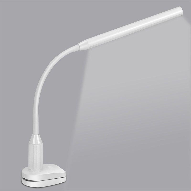 Lámpara de Escritorio LED Ojo Proteger Abrazadera Clip de Lámpara de Mesa de Luz Regulable Sin Escalonamientos Flexible USB Powered Touch Interruptor de Control Del Sensor