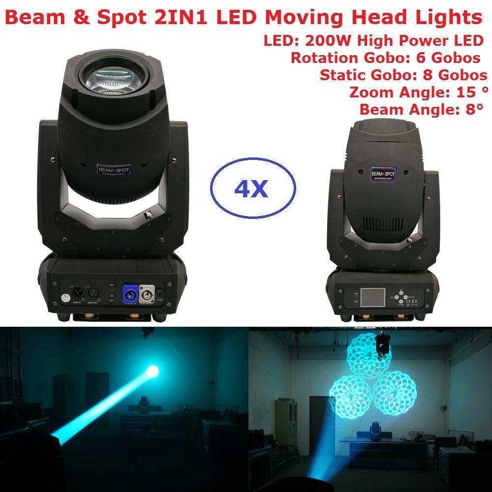 Fabrik Verkäufe 200 W Gobo LED Moving Head Strahl Spot Lichter 2 Gobo Rad 15 Grad Zoom Winkel Für Professionelle bühne Beleuchtung Zeigt