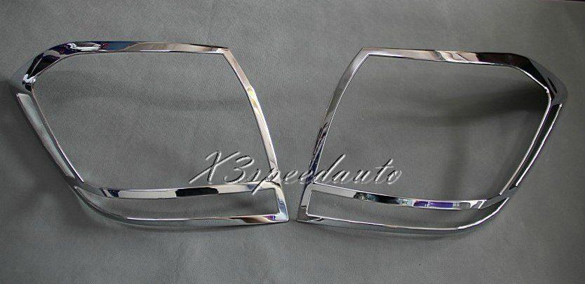 Chromed ABS Plastic 2PCS Tail Rear Light Cover Trim For Toyota Highlander 2011 2012 2013