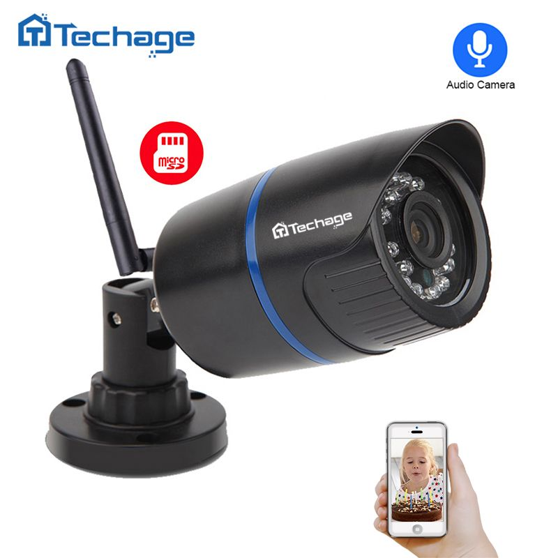 Techage Yoosee IP Wifi Camera 1080P 960P 720P ONVIF Audio Record Sound Wireless P2P 2MP CCTV Outdoor Camera With SD Card Slot